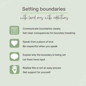 Boundaries that help a drug addict son